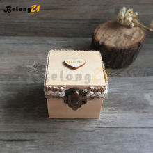 1pcs Wedding Decoration Ring Box Party Decorations Wooden Rustic Decor Supplies for Decorating Pillow Jewelry