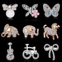 Strass Pins und broschen Elefanten pony schmetterling emaille pin Abzeichen Hut Rucksack Zubehör Liebhaber schmuck Geschenk für liebhaber