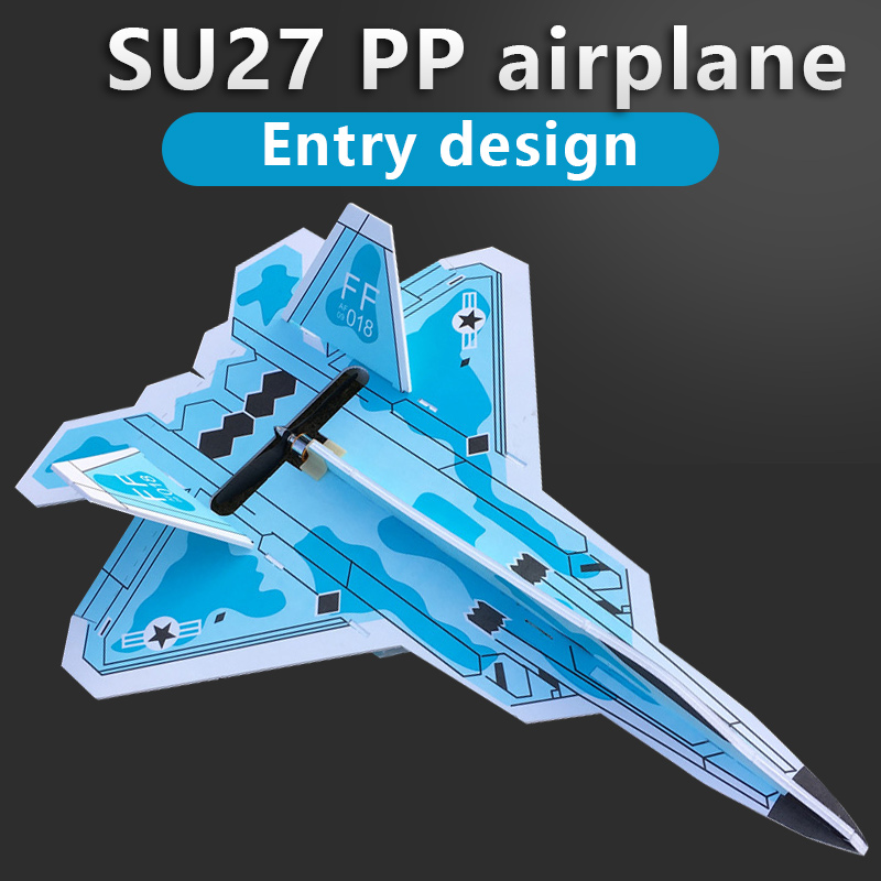 Fixed wing model Su27 RC airplane structure parts resistance to cast material Remote Control Aircraft