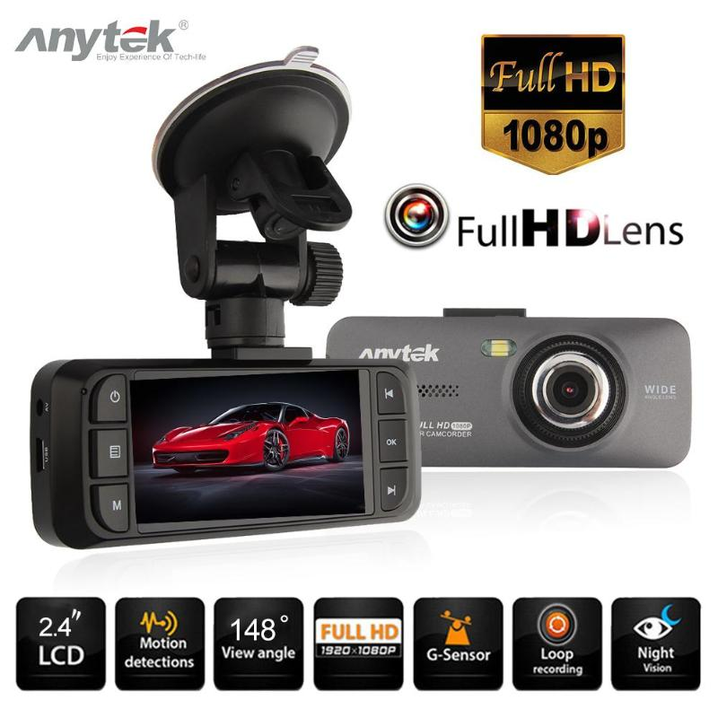 Anytek AT900 2.7 Portable Car DVR Camera 1080P Full HD Video Recorder Dashcam 148 Degree Wide Angle WDR Night Vision Dash Cam