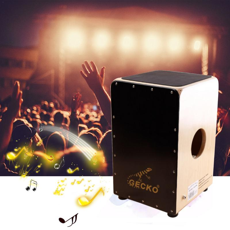 New Wooden Cajon Stringed Percussion Box Beat Instrument Hand Drum African Drum