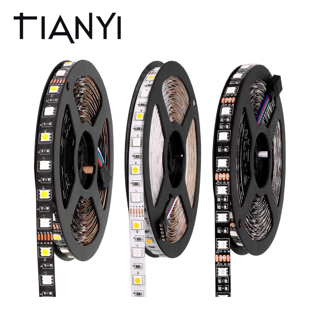 5050 RGB LED Strip Waterproof 12V 5M 300LED RGBWW RGBW LED Light Strips Flexible Neon Light Ribbon Tape Luz Indoor Home Lighting beiyun smd 5050 rgb led strip 5m 300led not waterproof dc 12v led light strips flexible neon tape luz white warm white rgb