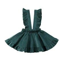 Vintage vestido de fiesta de la muchacha de la Navidad sólido sin mangas niños princesa vestido Ruffles niñas vestidos de invierno niños vestidos de boda
