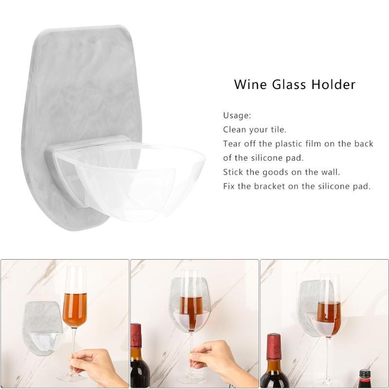 Plastic Wine Glass Holder For The Bath Shower Red Wine Glass Holder Silky Strong Wine Glass Home Storage Rack