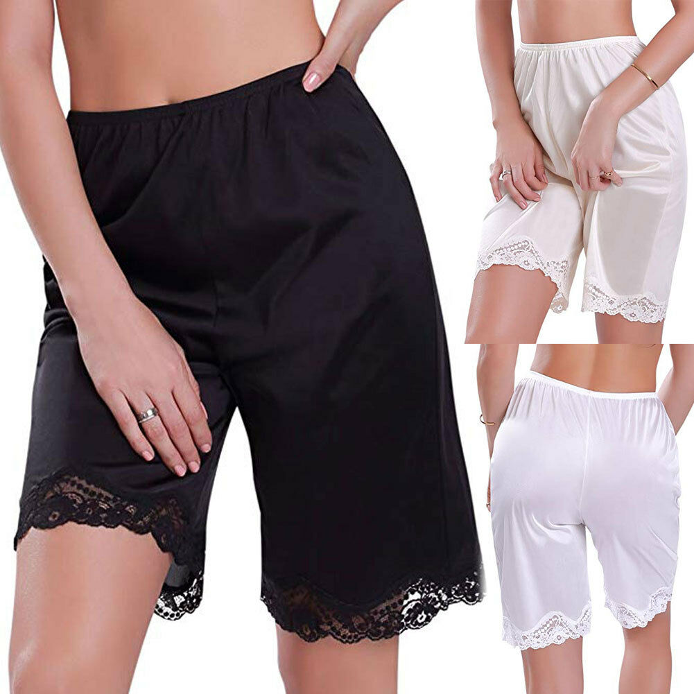Women Lace Slip Pettipants Sleep Shorts Loose Panties Knickers Bloomer Breathable Short Lingerie Sleepwear Household Clothing