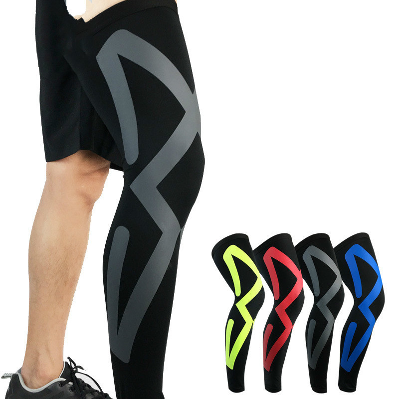1PCS Sports Safety Leg Warmers Breathable Lycra Cycling Running Basketball Compression Leg Knee Pads Sleeves Legwarmers