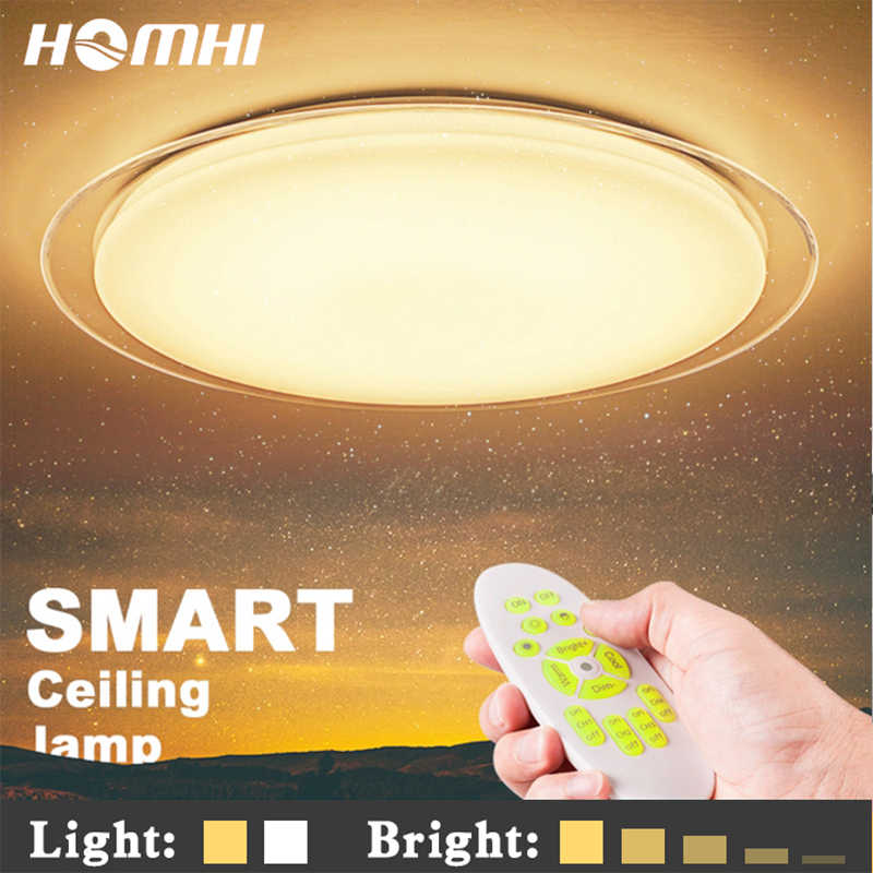 luminaria modern house deco round lamparas led  para apply led ceiling lamp 25w light kids room home lights with remote control
