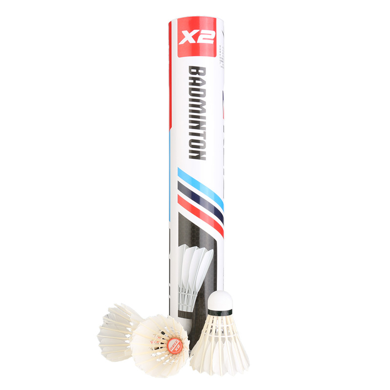 Reiz X2 12PCS/Tube Badminton Shuttlecocks Goose Feather Shuttlecocks Soft Durable Rotate Outdoor Sports Badminton Accessories