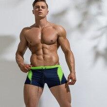 2019 baño Sexy Gay traje de hombre nadar troncos Boxer Shorts traje de baño Sunga abrigos pantalones cortos ortografía Color nadar
