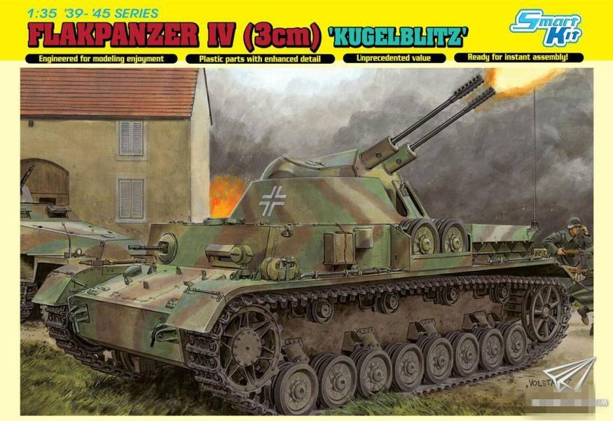 DRAGON 1/35 6889 Flakpanzer IV [3cm) 'Kugelblitz' [Bonus:Magic tracks] Model Building Kits  - AliExpress