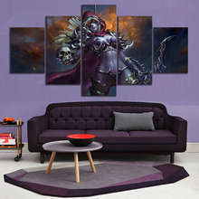 5 Piece Classic Game WOW Warcraft DOTA 2 Painting Poster Decorative Mural Art Room Wall Decor Canvas Wholesale