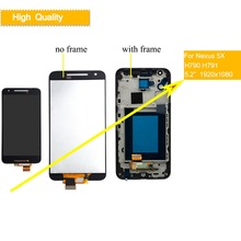 10Pcs/lot ORIGINAL Display for LG Google Nexus 5X LCD Touch Screen with Frame for LG Nexus 5X LCD Display Replacement H790 H791 lg защитная пленка для nexus 5x