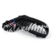 Pair Matte Black M Colour Kidney Tuning Front Grilles For BMW E90 E91 LCI 09 12