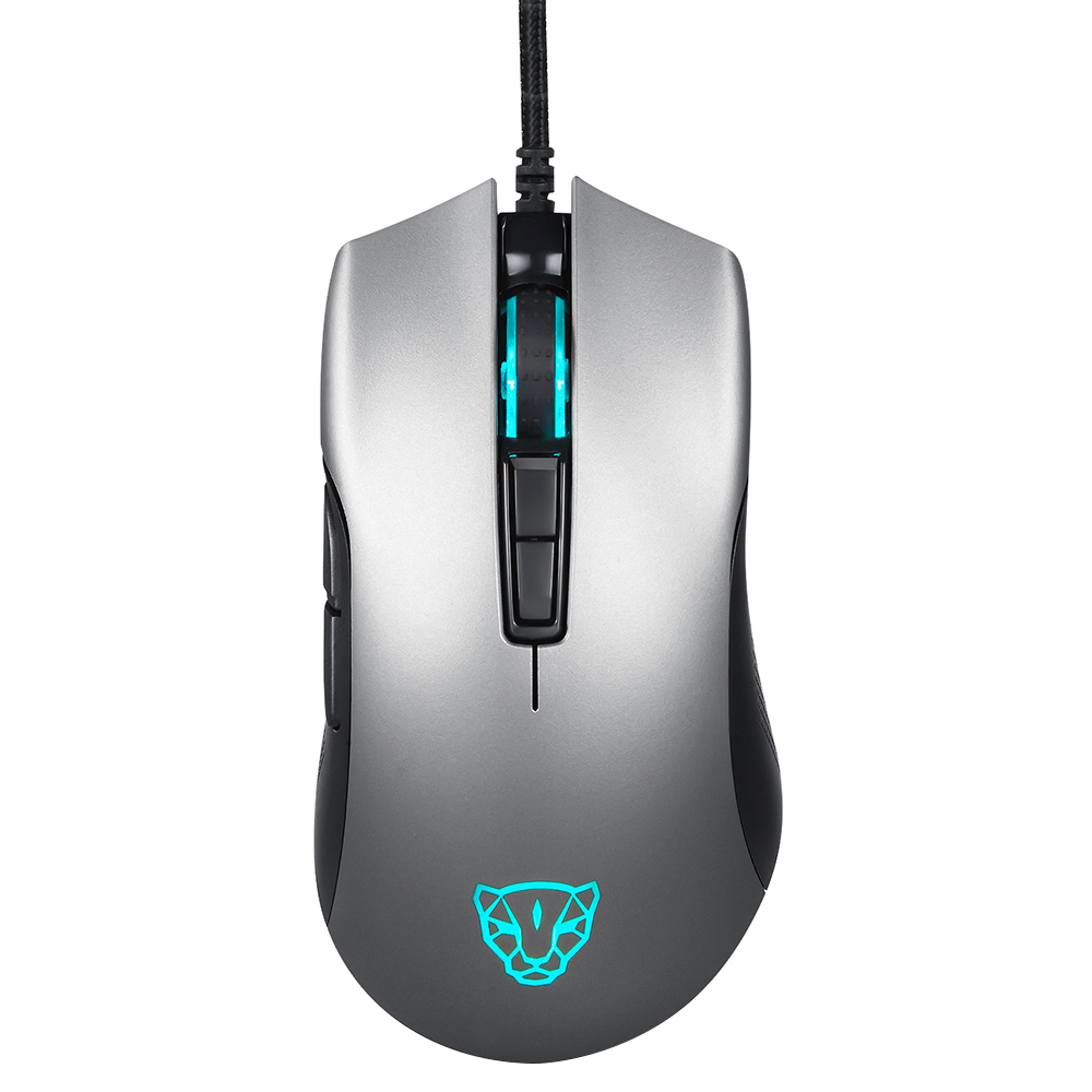 Motospeed New V70 Wired Gaming Mouse Silver Black Option Backlight 12000DPI Adjustable E Sports Profession Mouse