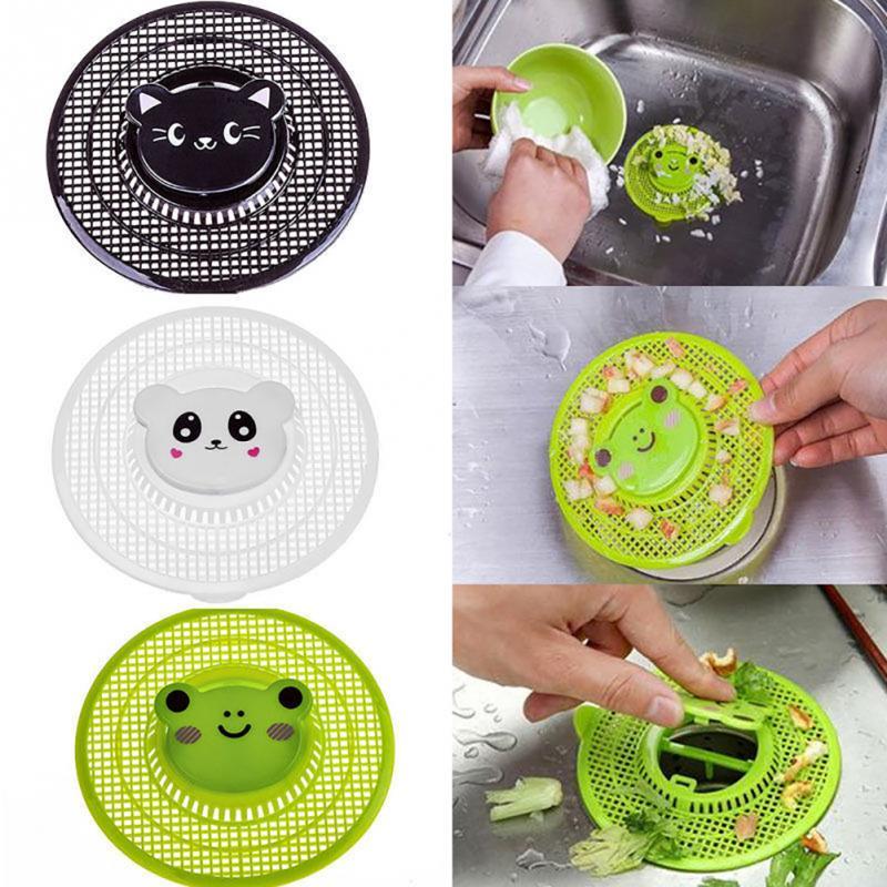 New Diameter Of 12cm Kitchen Plastic Cartoon Sink Filter Bathroom Floor Drains Shower Hair Sewer Filter Colanders Strainer