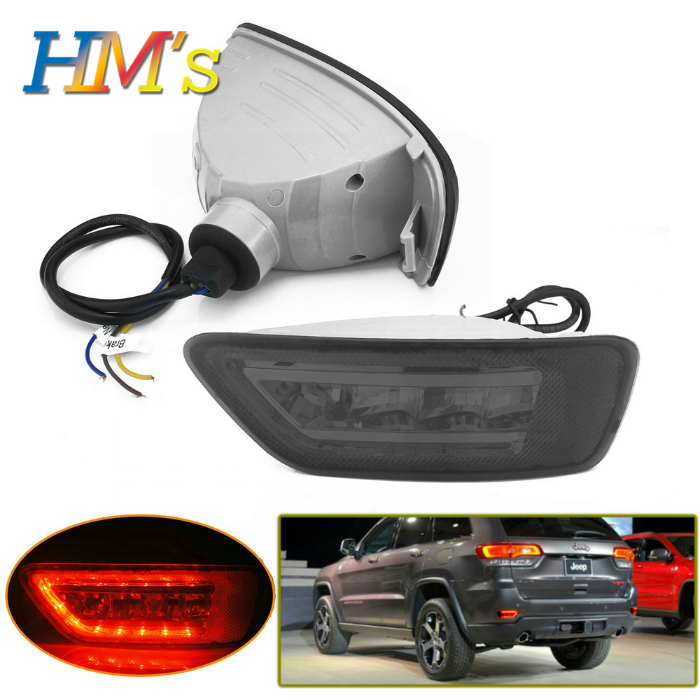 For Dodge Journey For Jeep Grand Cherokee WK2 2011 2017 2018 Car Bumper LED Rear Tail Brake Light Fog Lamp For Jeep Compass