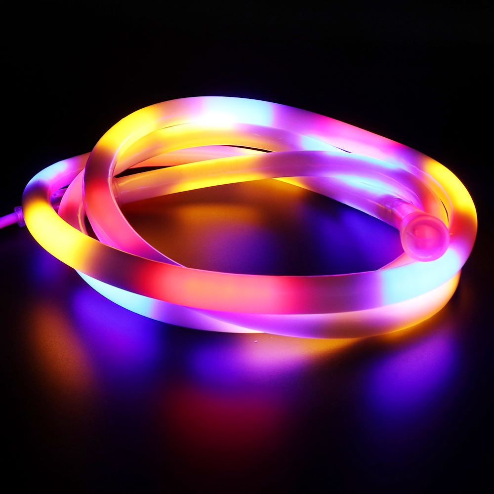 220V Neon Lights Lamp 2835 RGB LED Strip Waterproof 120LEDs/m Flexible Ribbon Tape Neon Sign Fairy Lighting LED Light Decoration