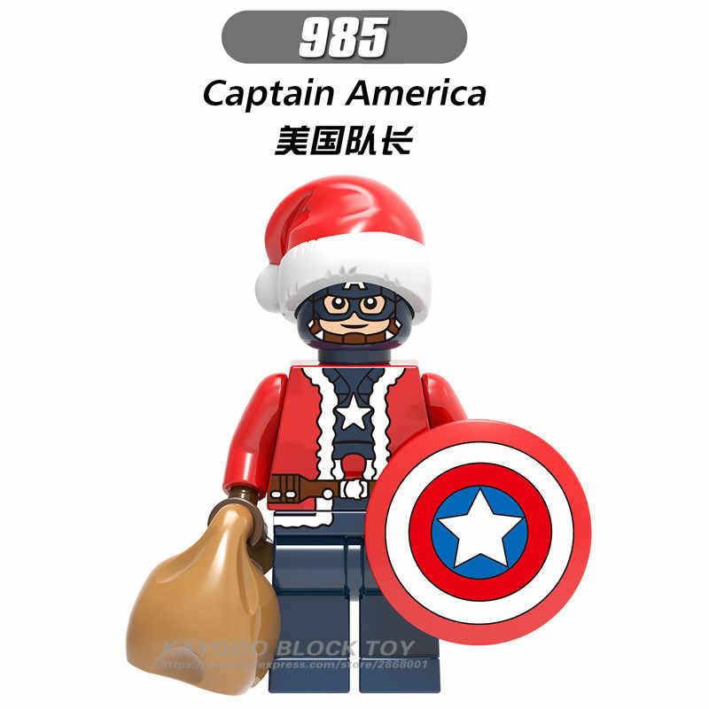 Фигурка Marvel Супер Герои Железный человек Росомаха Тор Дэдпул Legoed здания Конструкторы Дети Рождество игрушечные лошадки для детей X0222