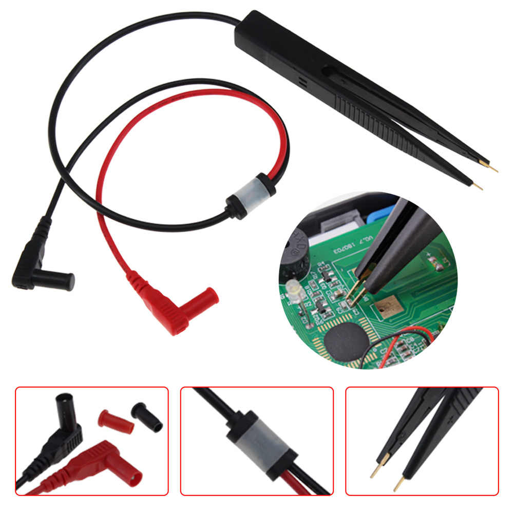 Voor Weerstand Multimeter Probe Tweezer Auto SMD Spoel Test Clip SMT Chip Digitale Gold Plating Condensator Inductie