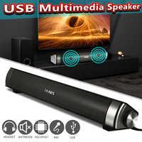 Barre de son filaire système de haut-parleur 6 W USB multimédia Audio HIFI stéréo barre de son pour ordinateur PC ordinateur portable bureau Smart Phone