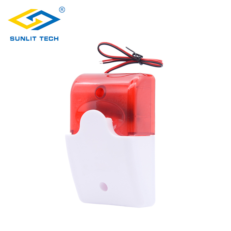 Security Alarm Back To Search Resultssecurity & Protection 1/2/5pcs 12v Mini Indoor Wired Siren With Red Light Siren Flash Sound Home Security Alarm Strobe System 110db For Home Security Long Performance Life