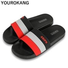 купить Summer Home Slippers Unisex Indoor Bathroom Slippers Non-slip Fashion Classic Concise Men Flip Flops Hot Sale Slides Beach Shoes по цене 767.53 рублей