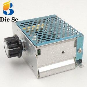 Image 1 - אחת שלב Knob מתאם AC220V 4000 W ברציפות משתנה שנאי עבור מנוע מהירות רגולטור LED בהירות בקרה
