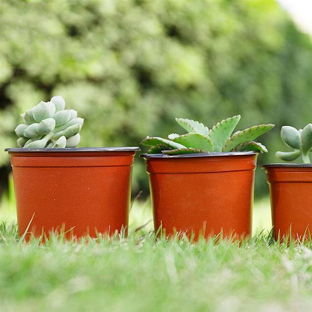 10PCS 식물 꽃 냄비 플라스틱 시작 2 톤 유니버설 부드러운 꽃 보육 씨앗 스토리지 냄비 컨테이너 정원 장식