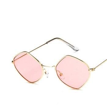 Retro Stilvolle Polygon Sonnenbrille Frauen Männer Dünne Weiche Metall Rahmen Marke Designer Einzigartige Sonnenbrille Damen Brillen Brillen