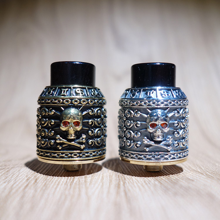 Atomiseur de reconstruction original squonk bf rda riscle pirate king V2 24mm pour le mod de cigarette électronique bf mod
