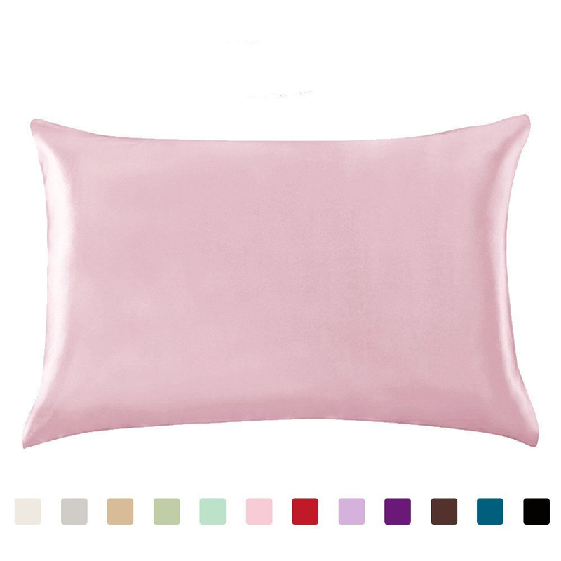 100% Queen Standard Satin Silk Soft Mulberry Plain Pillowcase Cover Chair Seat Square Pillow Cover Home19(China)