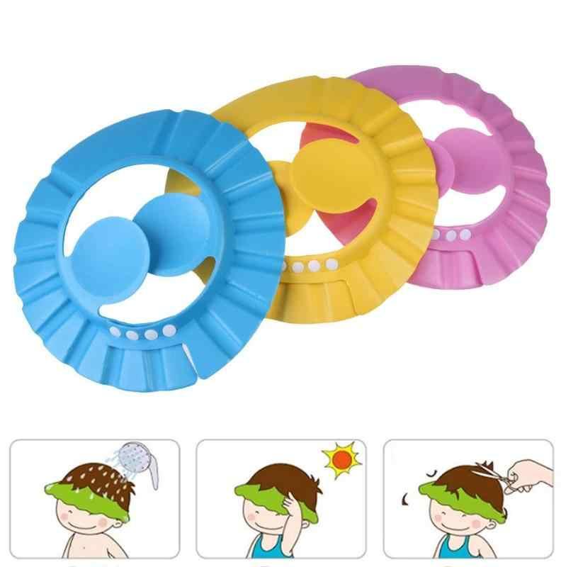 Ajustable bebé niños Cap champú cuidado impermeable ojo Protector suave de moda baño ducha de lavar el pelo oído escudo niños nuevos