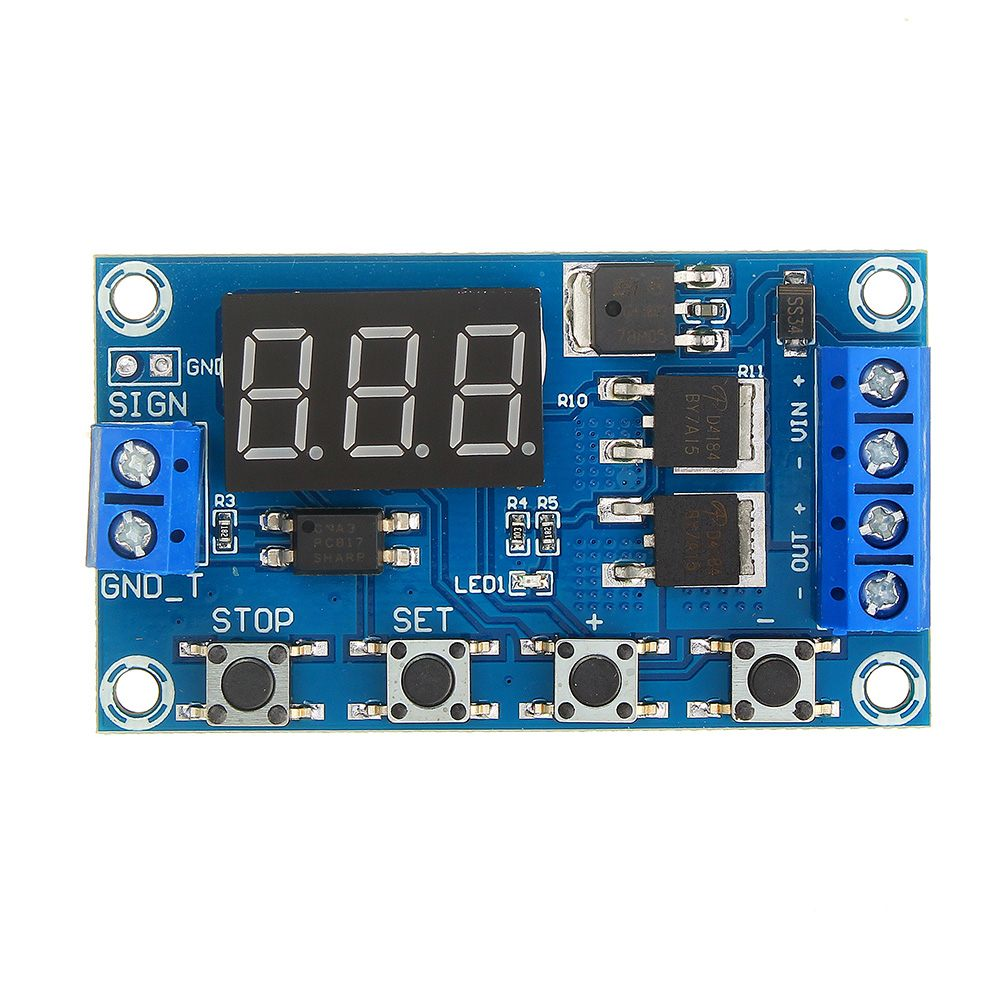 LEORY DC 5V--36V Trigger Cycle Time Delay Switch Circuit  Double MOS Tube Control Board Relay Module