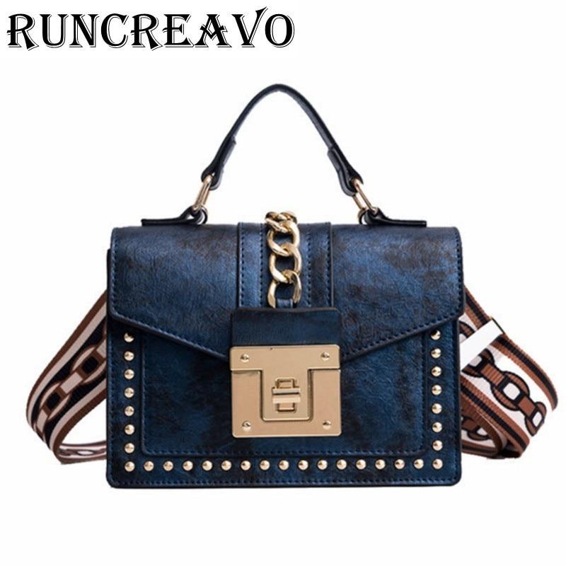 52542ff452 Comprare 2018 borse crossbody per le donne di cuoio borse di lusso delle  donne delle borse del progettista blocco rivetto sacchetto del messaggero  della ...