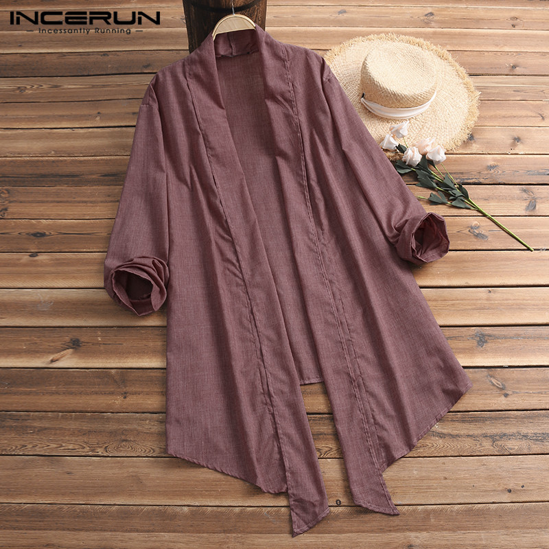 NEW Plain Women Cloak Coats   Trench   Loose Long Cardigan Outwear Plus Size 5XL Femininas Fashion Overcoat Female Clothes