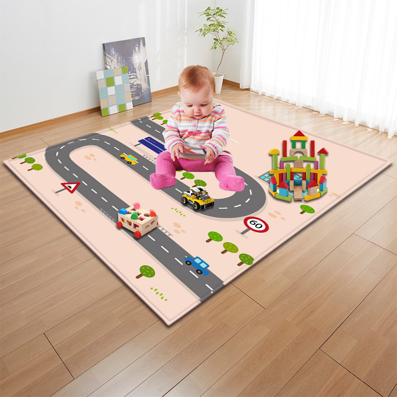 10 Colors Kids Play Car 3D Road Patterns Soft Large Carpet Rugs For Home Living Room Mat For Children Bedroom-in Carpet from Home & Garden    1