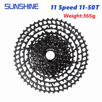 SUNSHINE kaseta 11 prędkości 11-50T MTB Mountain Bike kaseta SUNSHINE wolne koło kompatybilny SHIMANO SRAM tanie i dobre opinie SUNSHINE-SZ STOP CN (pochodzenie) Wolnobieg 11-speed