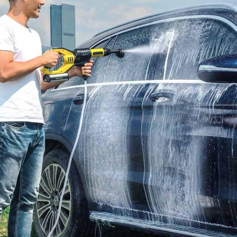 Leistungsstarke Handheld Auto Wasser Pistole 2.2MPA Hohe Wasser Druck 21 v 1A Rechargable Flush Gun Fenster Haustier Outdoor Reinigung Werkzeug EU Stecker - 2