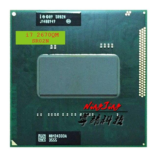 インテルコア i7 2670QM i7 2670QM SR02N 2.2 クアッドコア 8 スレッド Cpu プロセッサ 6 メートル 45 ワットソケット G2/rPGA988B