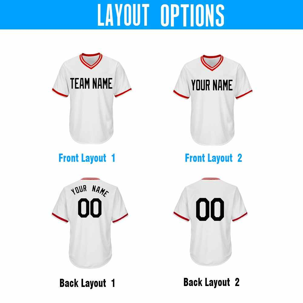 aa293f8fcb2 ... Custom V-Neck Replica Stripe Baseball Jersey with Embroidered Any Team  Logo Name Number DIY ...