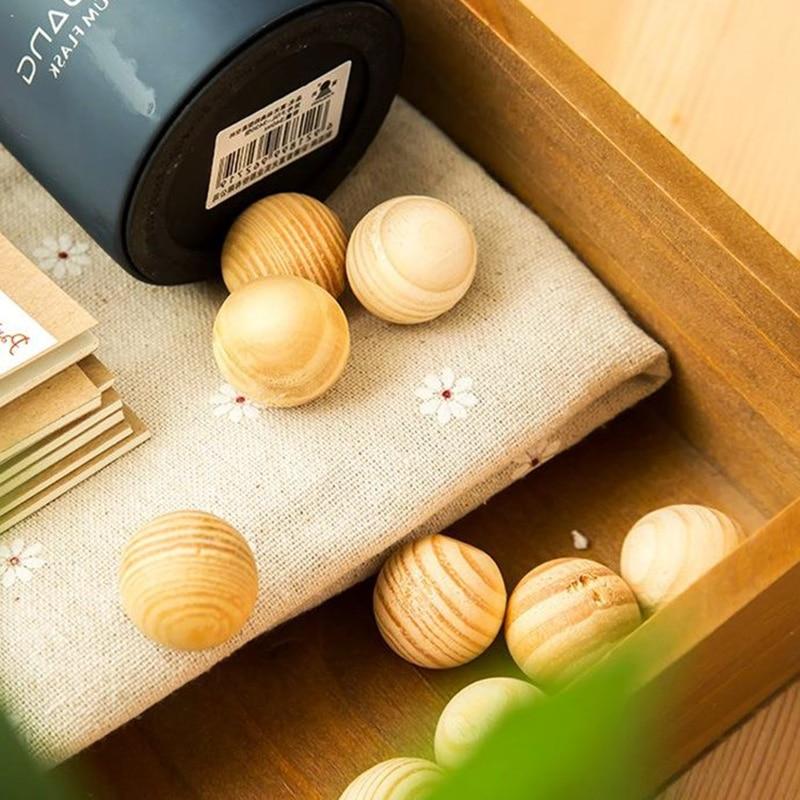 2019 New Arrival Smell Cedar Moth Insect Repellent 5PCS/Set Round Balls Durable Wood Book Clothes Camphor Balls Drawer