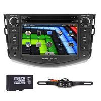 In Dash Double 2 Din Touch Screen GPS iPod DVD Navigation Radio Bluetooth for Toyota RAV4 2006 2007 2008 2012 Rear view Camera