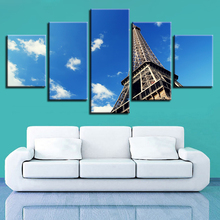 Home Decor Canvas Print Painting 5 Pieces World Famous City Building Scenery Pictures Wall Art Modular Living Room Poster Frame