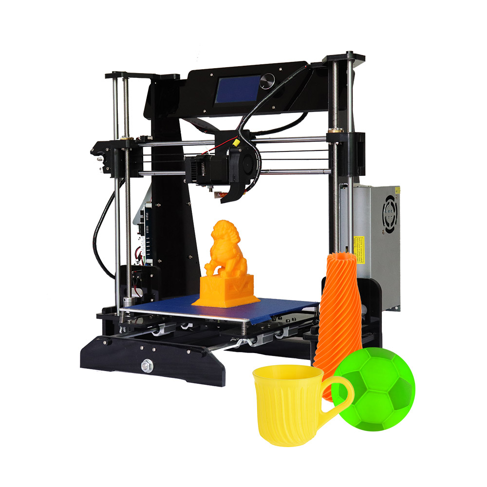 Energiek 3d Printer Diy Kit Hoge Precisie Quick Self Vergadering Met Acryl Frame Verwarmd Bed Bouwen Volume 220*220 * 240mm