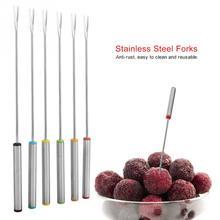 Высокое качество 6 шт./компл. Нержавеющая сталь посуда вилки для фондю фруктовый десерт кухонные вилки Барные инструменты