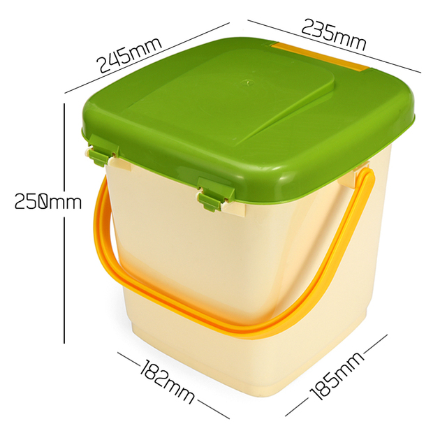 New 10L Household Recycle Composter Bucket Compost Barrel for Food Waste Fermentation for Organic Manure Garden Use 10