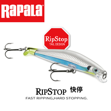 Rapala RIPSTOP Rps09 9cm/7g Dive 0.9-1.2m Fishing Lure Hard Artificial Bait 3D BADY MINNOW Quality Professional Casting&trolling