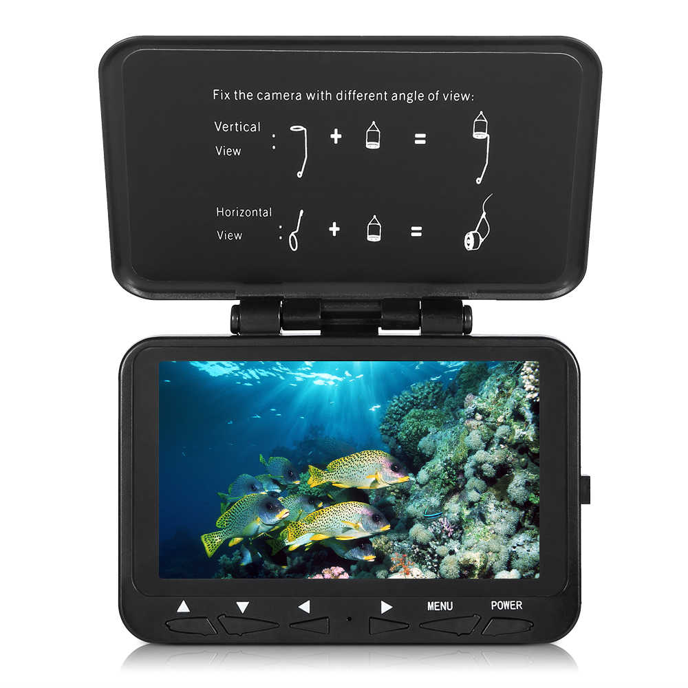 15M / 30M HD1000TVL Fish Finder Underwater Ice Fishing Camera with 4.3 LCD Monitor 8 LEDs Night Vision Camera 140 Wide Angle