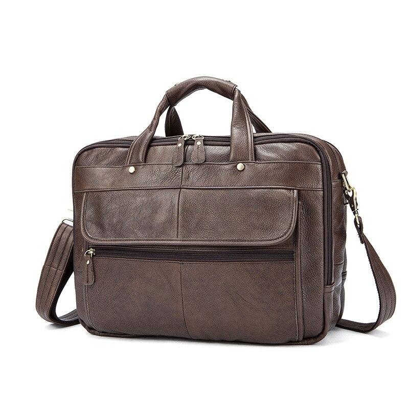 Palm Oil Schulter Handtasche Männer Tasche Männlichen Aktentasche green Leder Aus coffee Mann Taschen Vintage Umhängetaschen Echtem Messenger brown qqg6xnO