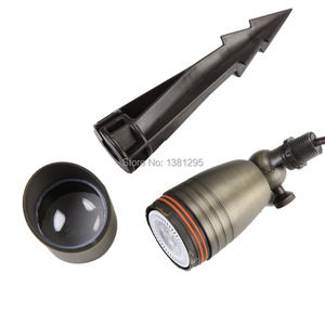 Image 5 - 12 V แรงดันไฟฟ้าต่ำโคมไฟภูมิทัศน์กลางแจ้งทองเหลือง Spotlight Bronze LED Garden ไฟน้ำท่วม MR16 หลอดไฟ 3 W 5 W